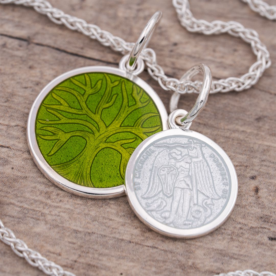 St Michael Perfect Gift For Girlfriend Pendants Sterling Silver Chains