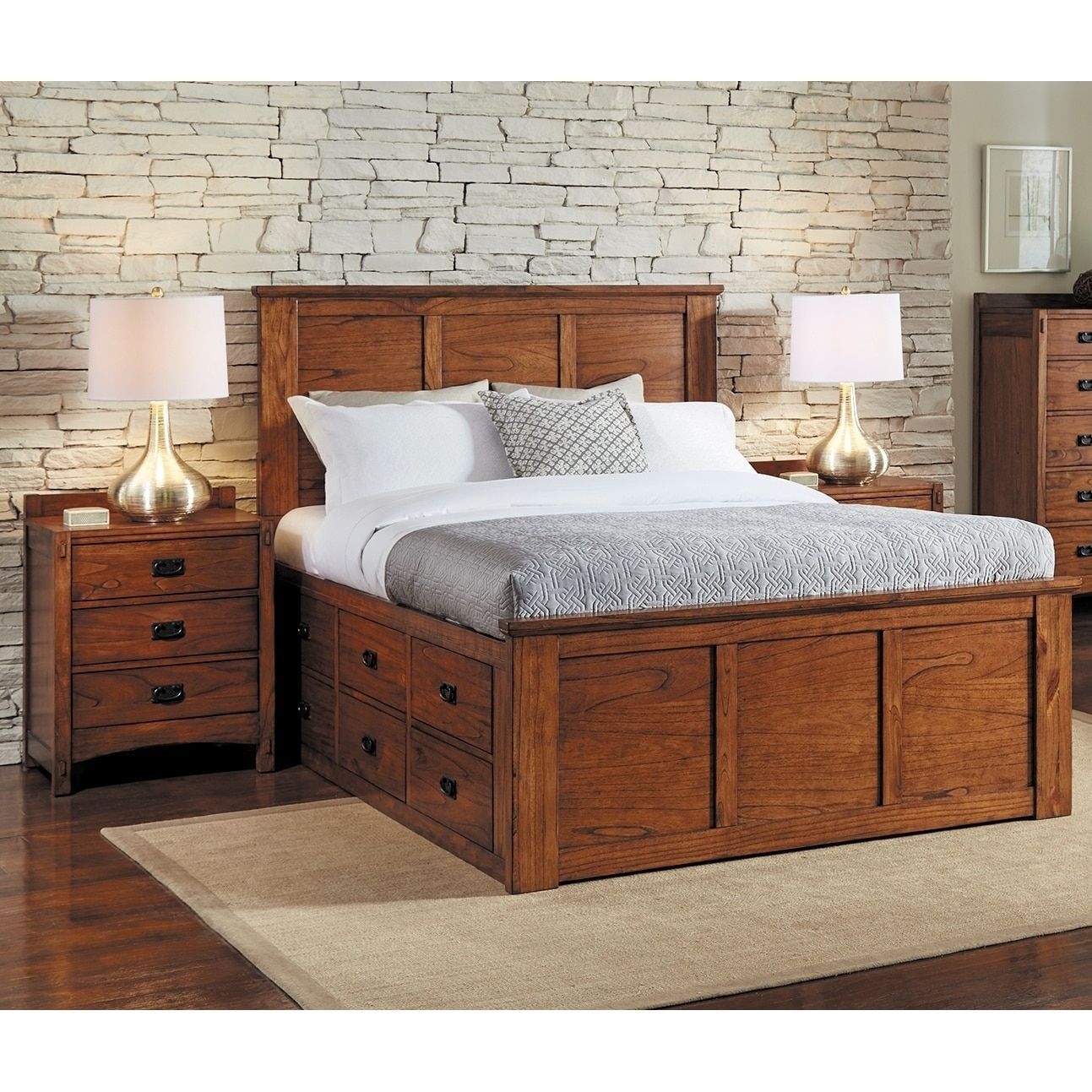 Aira 3-piece Solid Wood King Storage Bedroom Set (3pc Solid Wood ...