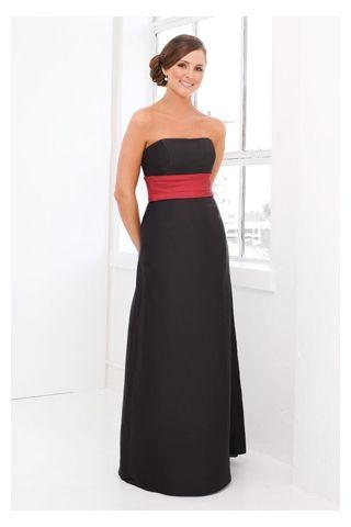 black bridesmaid dresses with red sash  fe817199b176