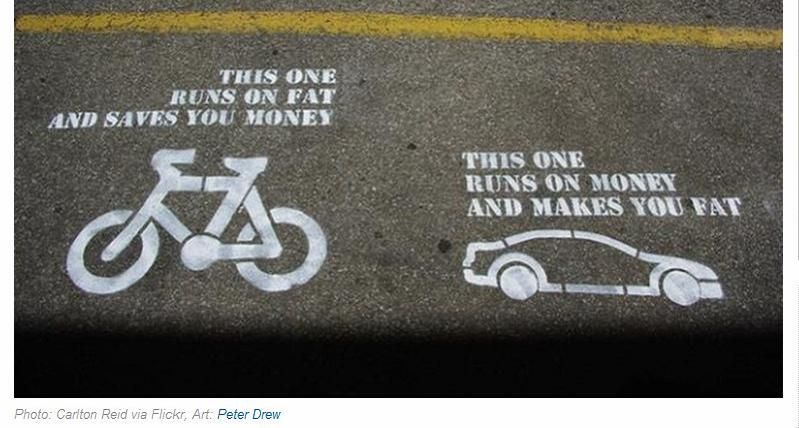 Bike Vs Car With Images Cycling Quotes Street Art Utopia Words