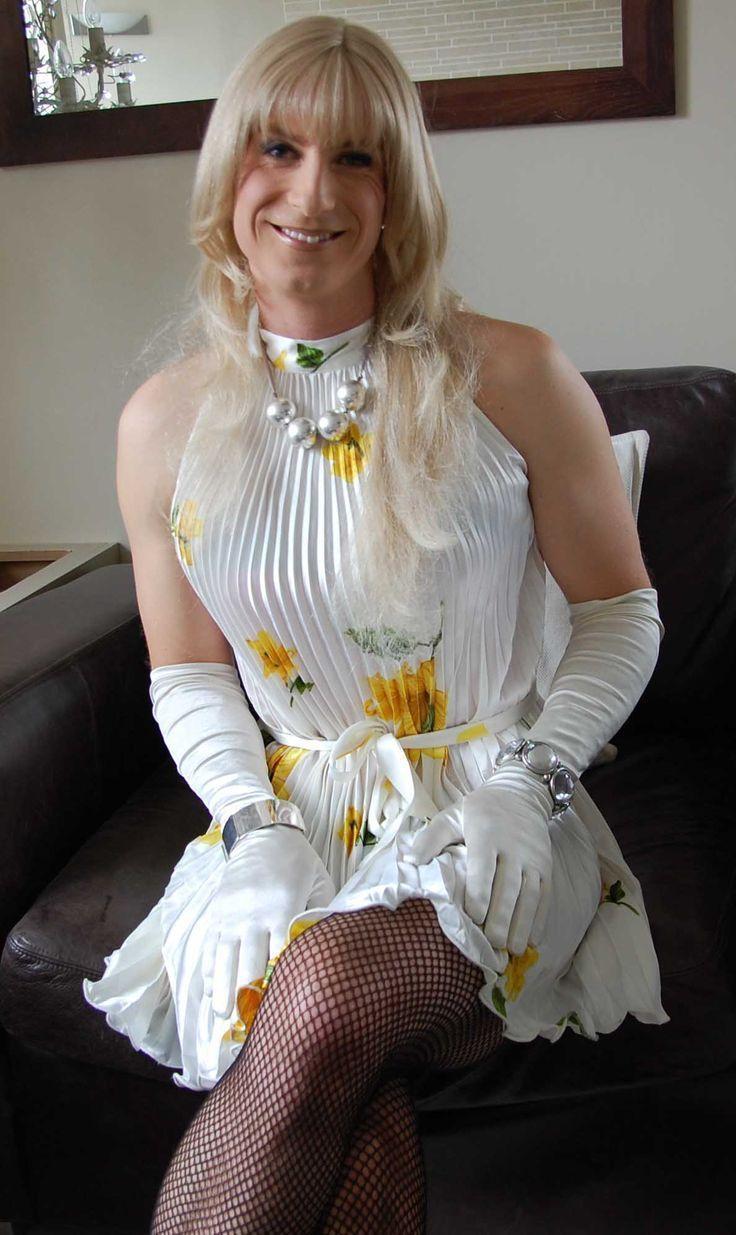 Bright Yellow Flowers Girls In Dresses Pinterest Crossdressers