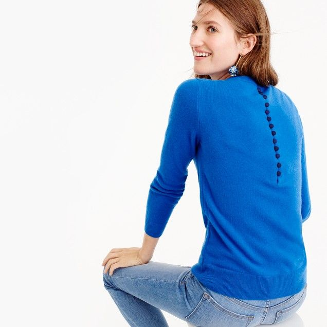 J Crew $228 Italian cashmere button-back sweater | Trending Now ...