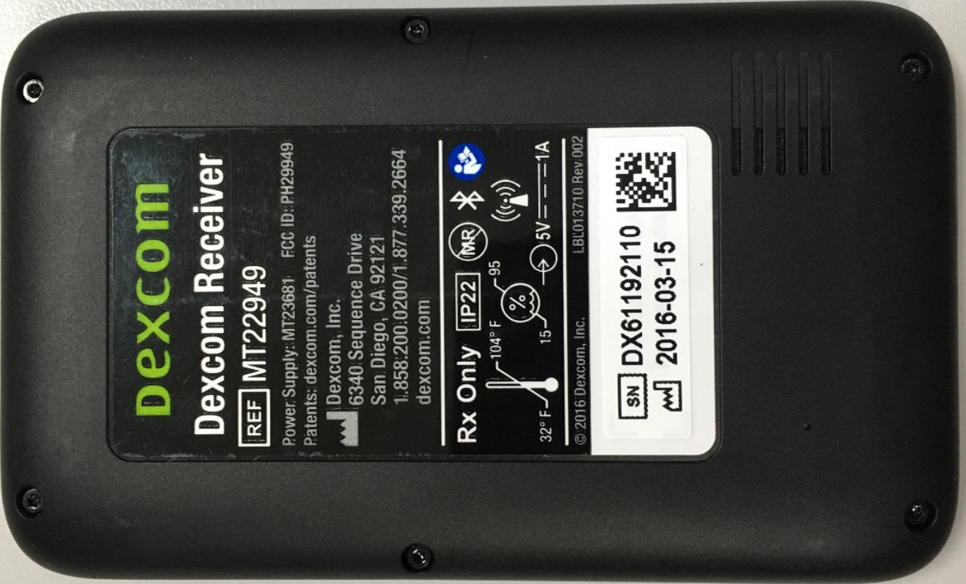Dexcom Inc G6 Receiver 9949 Ph29949 Fcc Application Manual Guide