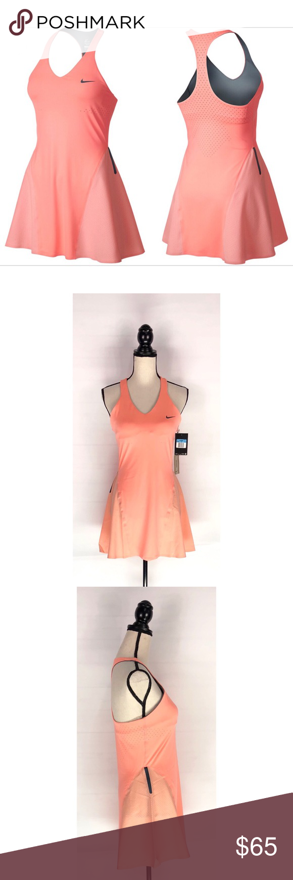 NIKE Maria Sharapova Tennis Dress Atomic Pink M NWT NIKE Maria Sharapova Premier  Tennis Dress Atomic