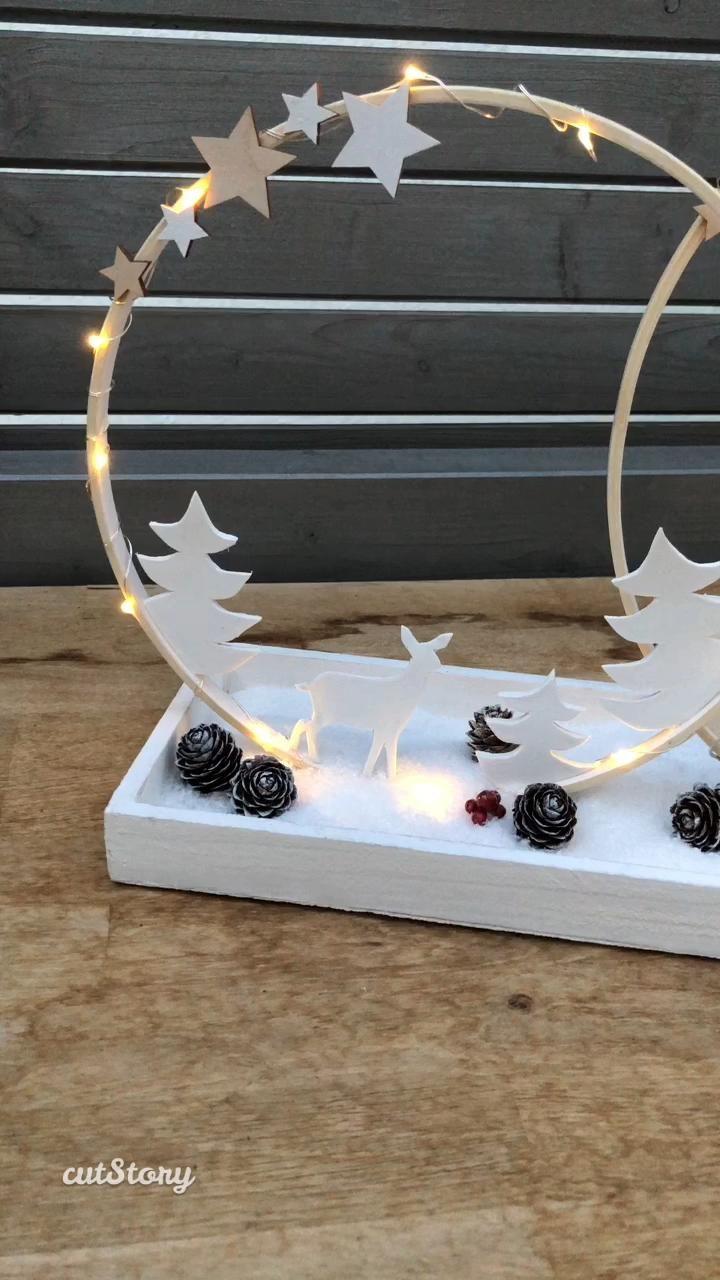 Photo of DIY: atmospheric Christmas decorations with wooden rings