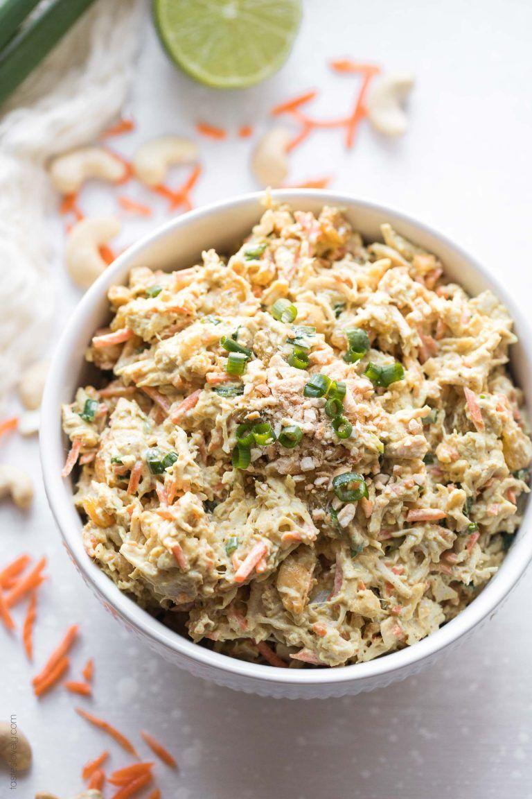 Curried chicken salad with cashews paleo whole30 gluten