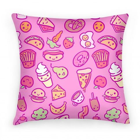 Cute Foods Pillows | LookHUMAN