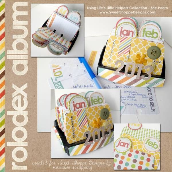 rolodex album by rebecca_mamabee cards and paper crafts at splitcoaststampers