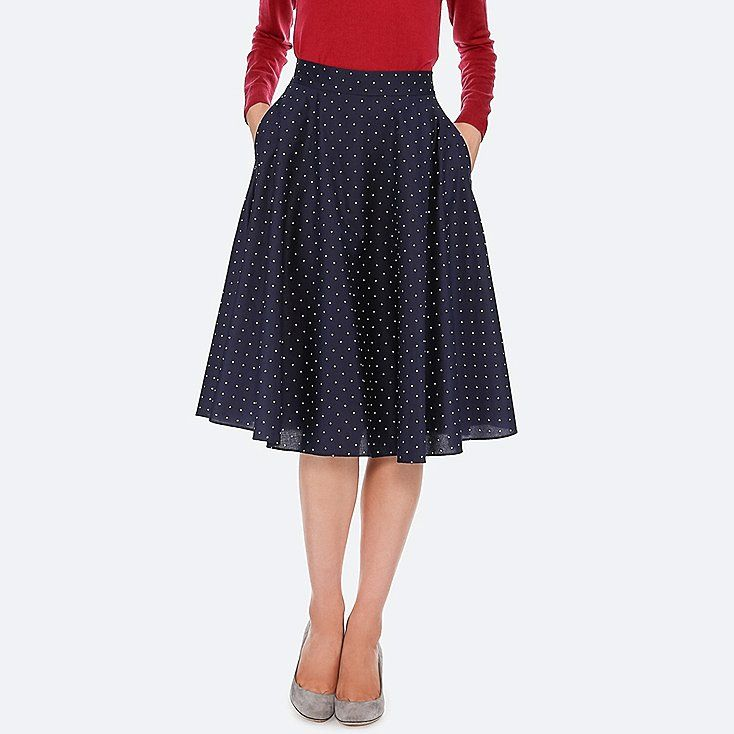 0d8d45bfa7 WOMEN CIRCULAR SKIRT. WOMEN CIRCULAR SKIRT Uniqlo, Waist Skirt, High ...
