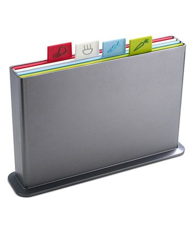 Another great find on #zulily! Silver Large Index Cutting Board Set #zulilyfinds