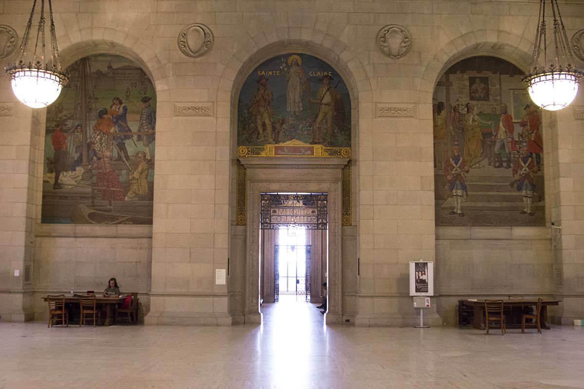 Floor three of the Detroit Public Library's main branch