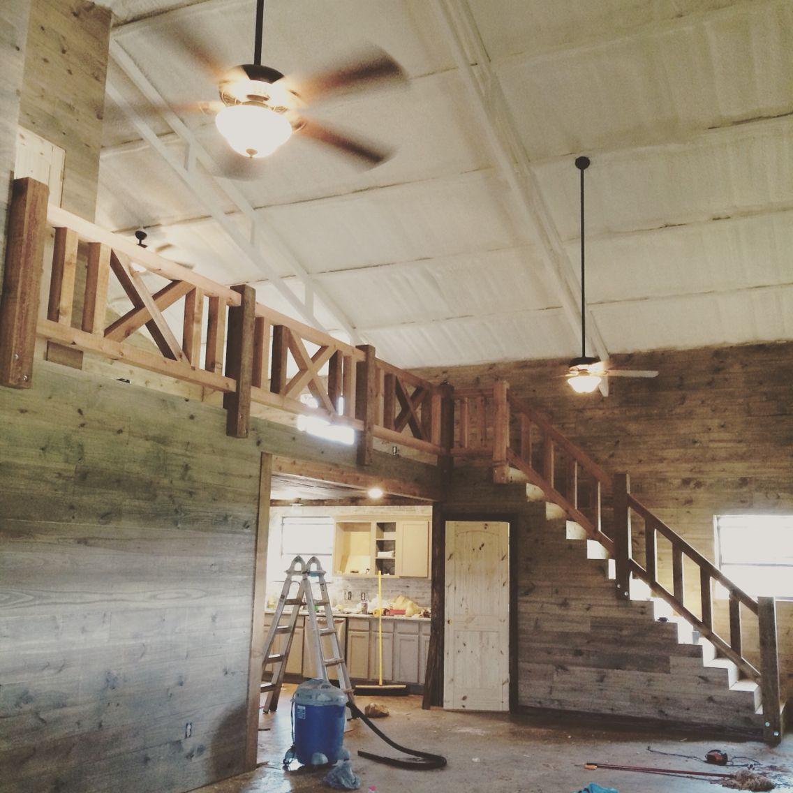 Farmhouse Rustic Cedar Railing Stairs Stair Railing