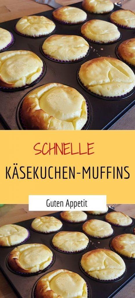 Schnelle Käsekuchen-Muffins - Sprainnews #schnelletortenrezepte
