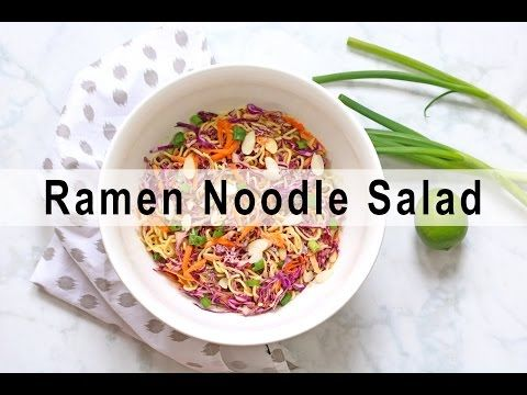 Vegan Ramen Noodle Salad {GF option} - VNutrition