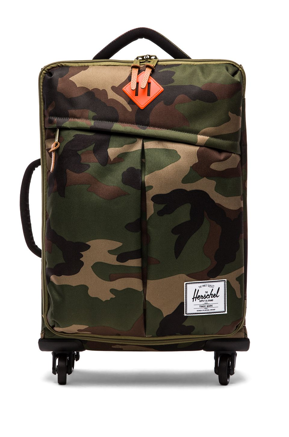 Herschel Supply Co. Highland Carry On in Woodland Camo   Orange from  REVOLVEclothing 30ba329800c1f