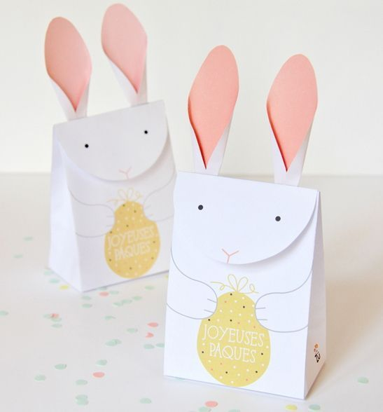 Easter papercraft little bunny gift bag free template download easter papercraft little bunny gift bag free template download negle Gallery