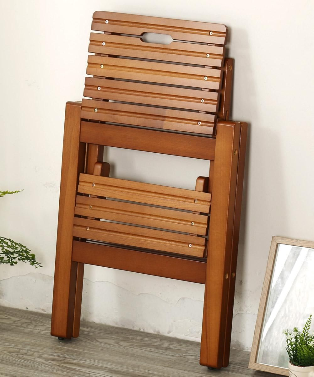 solid wood Folding stool stair stool Ladder Chair Folding Wooden 8
