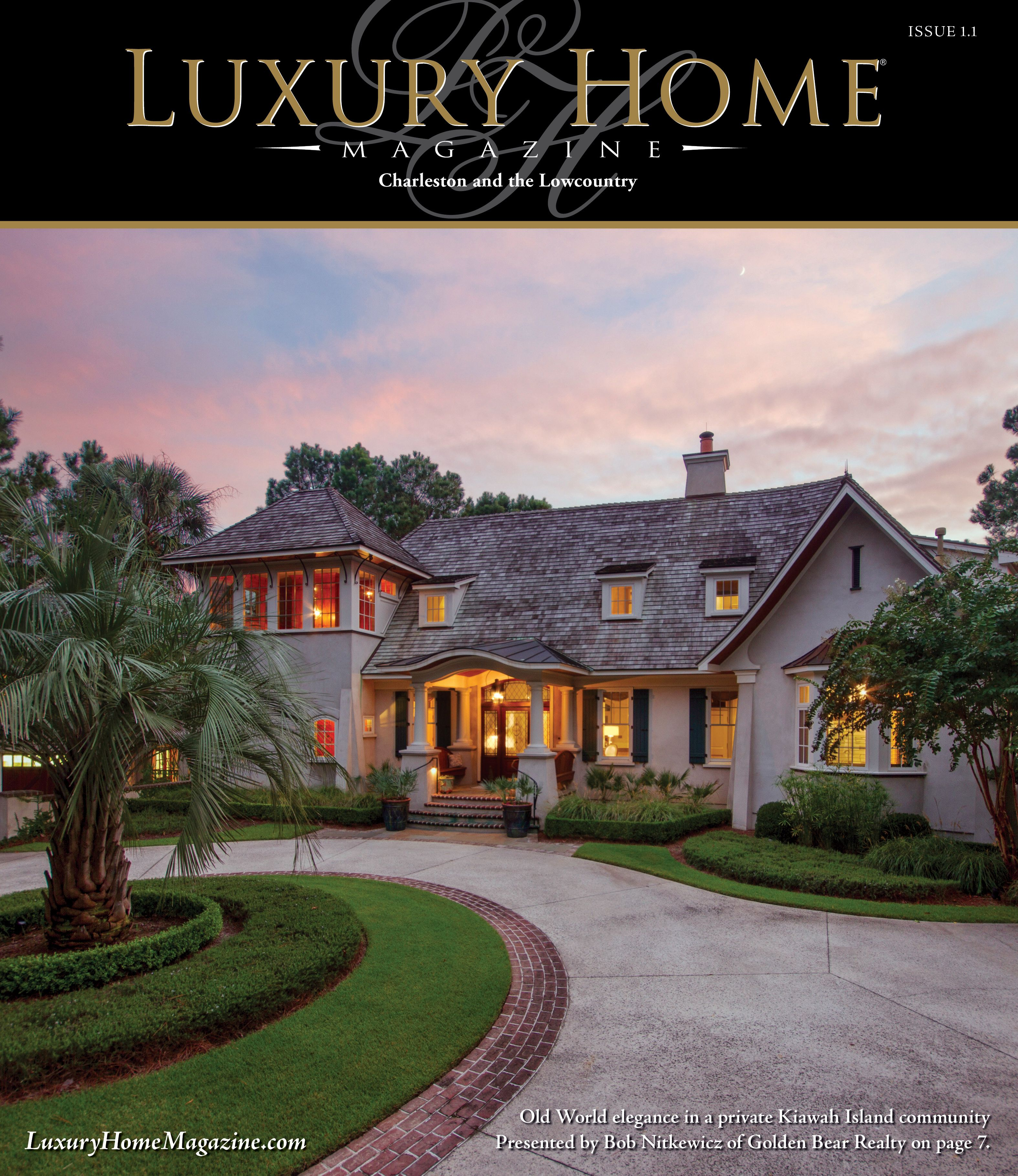 Luxury Home Magazine Charleston Issue 1.1 Front Cover Photography By Phil  Shepard Real Estate Photography