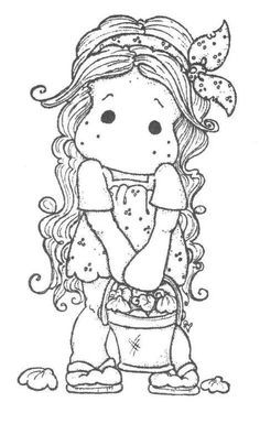 Gorjuss Santoro Stamps clipart and coloring pages - Google Search ... | 385x236