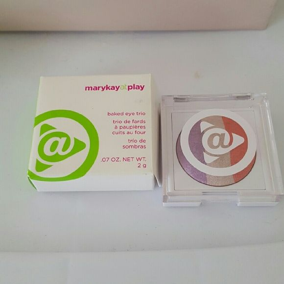 Mary Kay At Play Baked Eye Trio NWT- This baked eye trio comes in Sunset Beach. *free Mary Kay sample with purchase Mary Kay Makeup Eyeshadow
