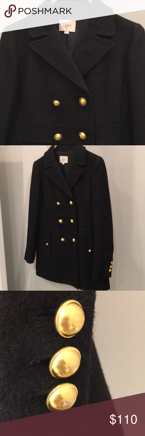 LOFT PEA COAT GREAT CONDITION, lovely gold buttons