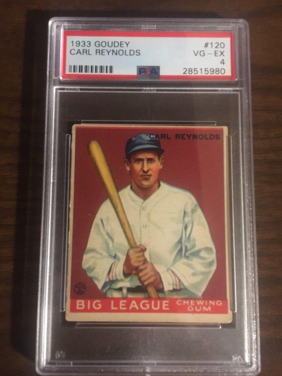 1933 GOUDEY Carl Reynolds 120 PSA 4 St. Louis Browns