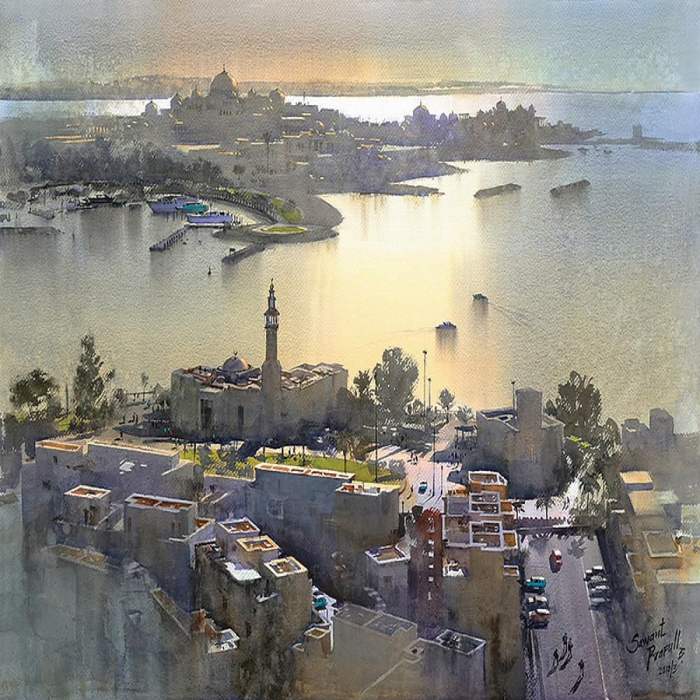 Prafull Sawant Kai Fine Art Watercolor Landscape Paintings