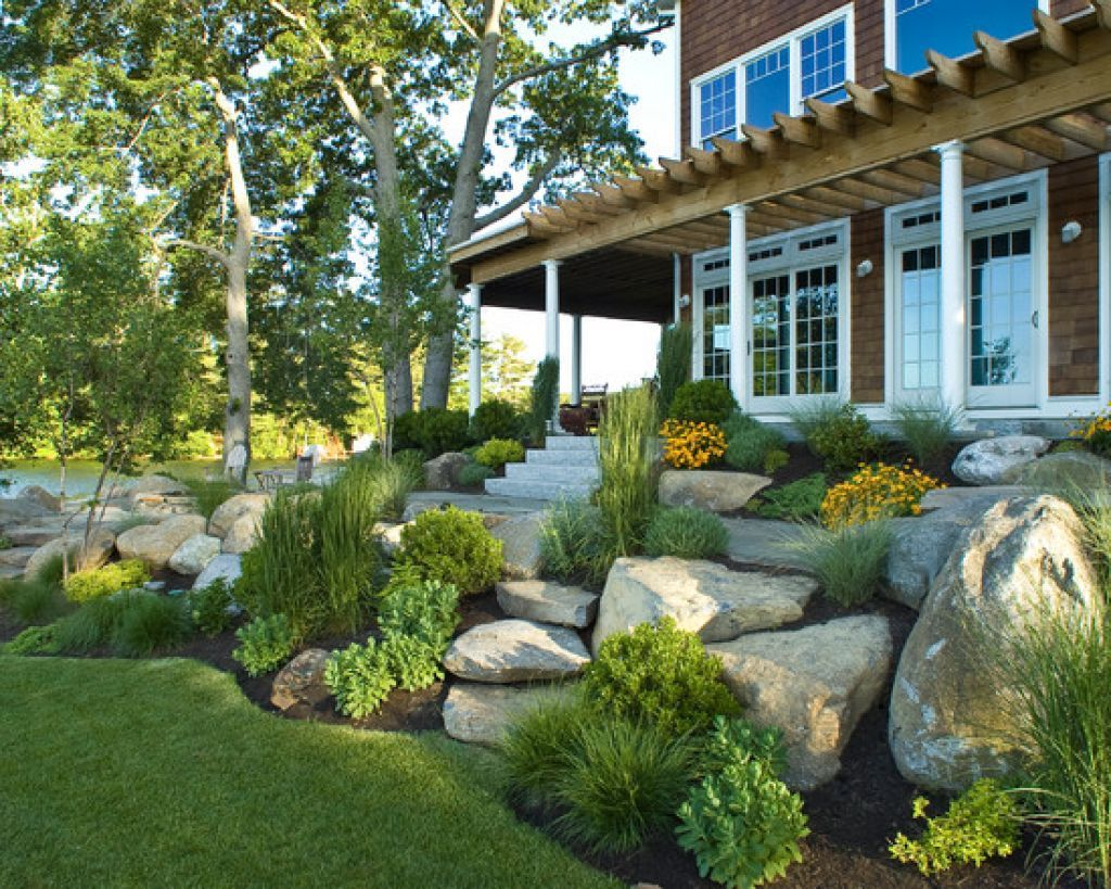 Landscaping Ideas For Large Front Yards Part - 25: Amazing Rock Landscaping Ideas For Front Yard Styles Inspiring U2026 I Love The  Idea Of Big Rocks For Landscaping, Less Large Shrubs And More Pops Of Color  From ...