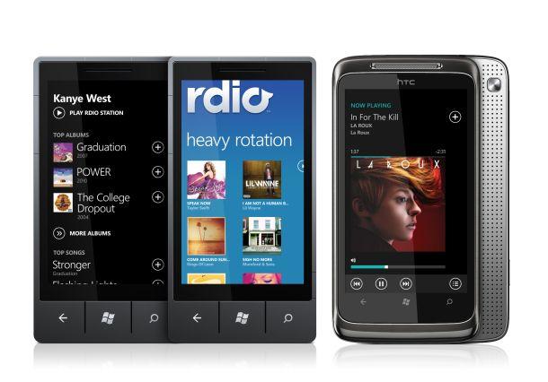 Rdio launches app for Windows Phone 7 Windows phone