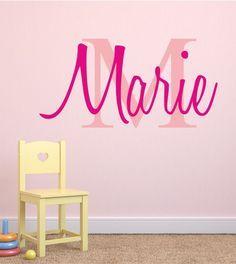 Name Und Buchstabe Als Wandtattoo. Tolle Wandmotive Mit Namen Für Das  Kinderzimmer Online Bestellen!