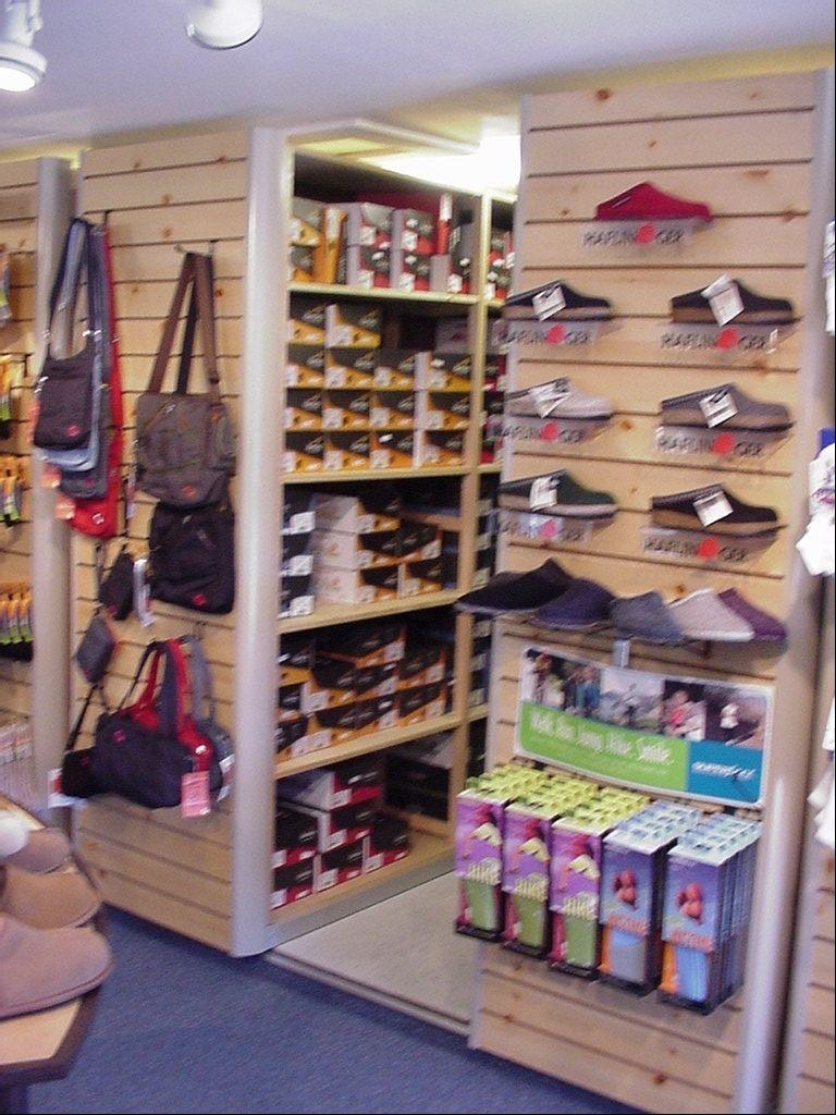 Shoe Store Mobile Shelving Case Study Mobile Shelving Slat Wall Shoe Storage