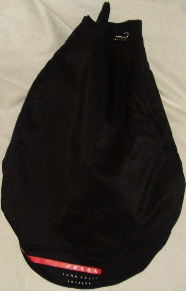 Black Prada Luna Rossa Extreme Canvas Duffel Bag Gym Overnight New Without Tags Prada Shoulderbag Canvas Duffel Bag Duffel Bag Duffel