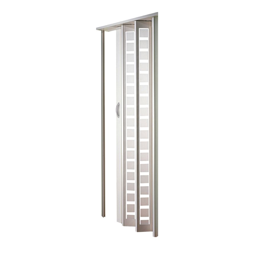 Spectrum Metro White Hollow Core 1 Panel Accordion Interior Door Common 32 In X 80 In Actual 33 Accordion Doors Accordion Doors Closet Folding Closet Doors