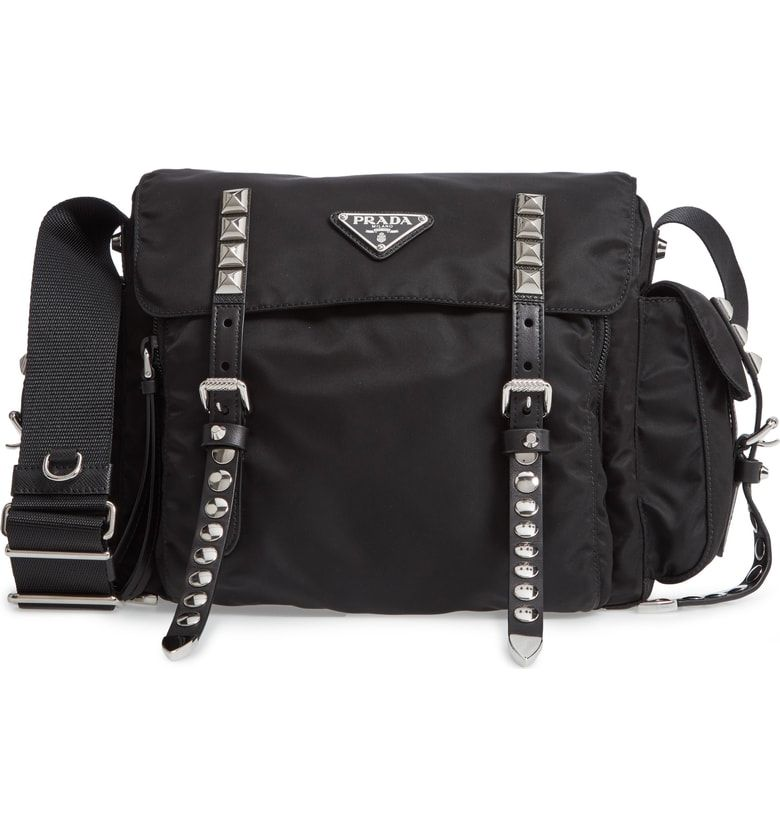 e99a4ee8a2 Free shipping and returns on Prada Medium Nylon Messenger Bag at  Nordstrom.com. Sturdy