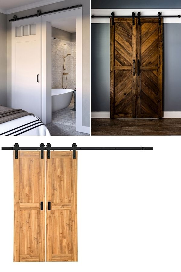 Double Sliding Barn Door Hardware Barn Door Track And Rollers