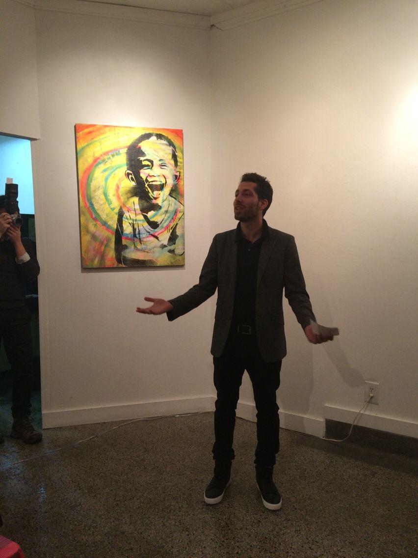 Aqui Verani at the Galerie Ame-Art du Mile End Jan 2016