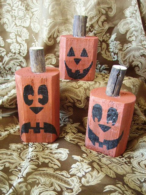 Primitive Pumpkin Trio harvest decor by cedarcreektreasures, $1800 - menards halloween decorations