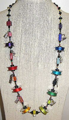Rainbow Bobbin Necklace