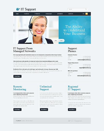 IT Support Website Templates by Nessy | IT Support Website ...