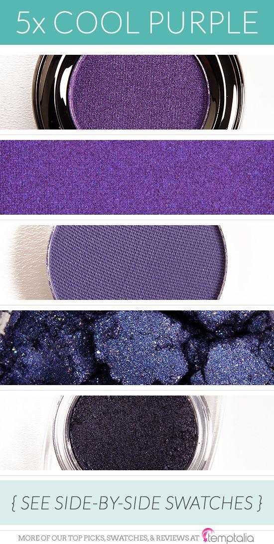 5 Beautiful CoolToned Purple Eyeshadows Cool tones
