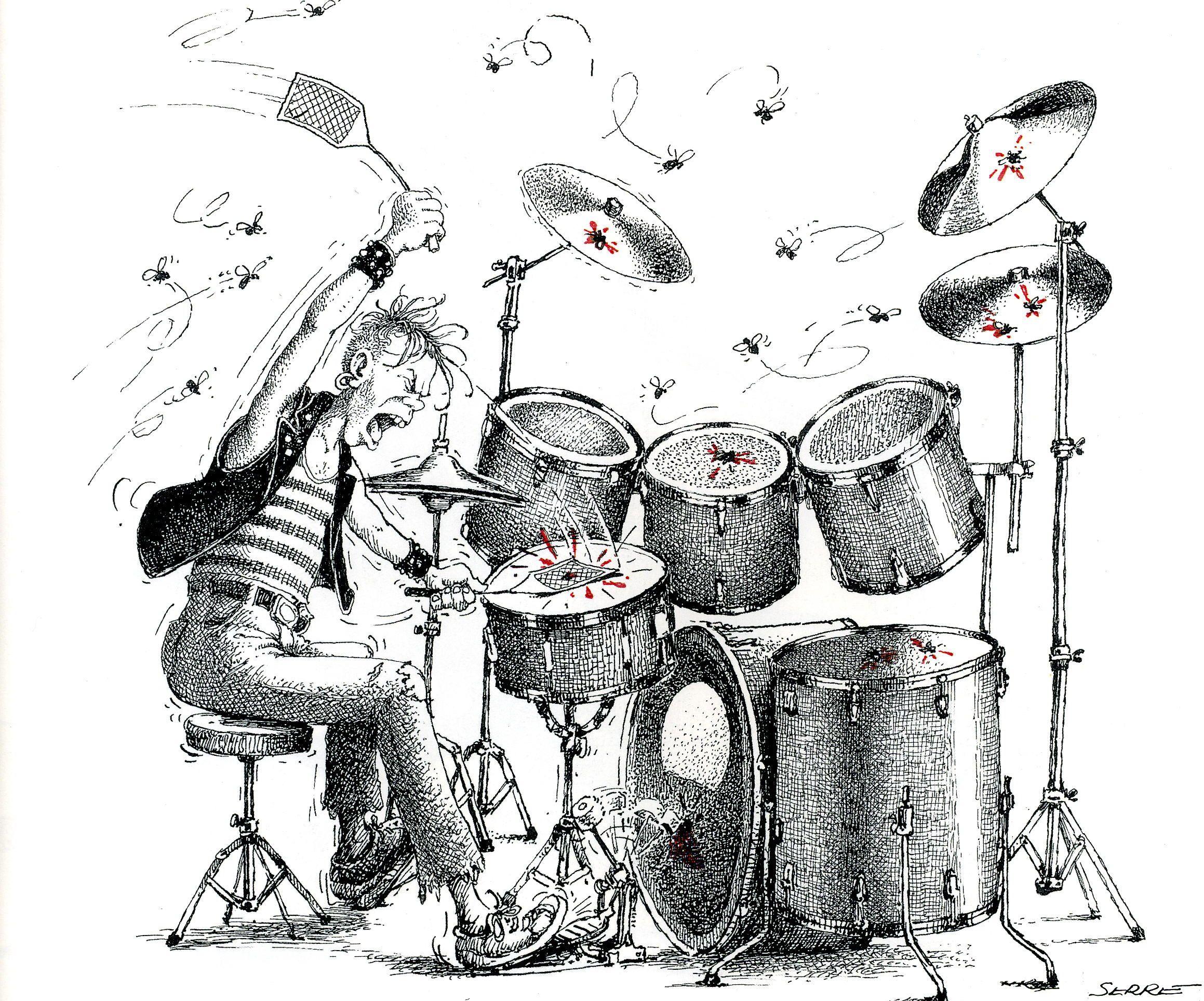 Смешной барабанщик картинка