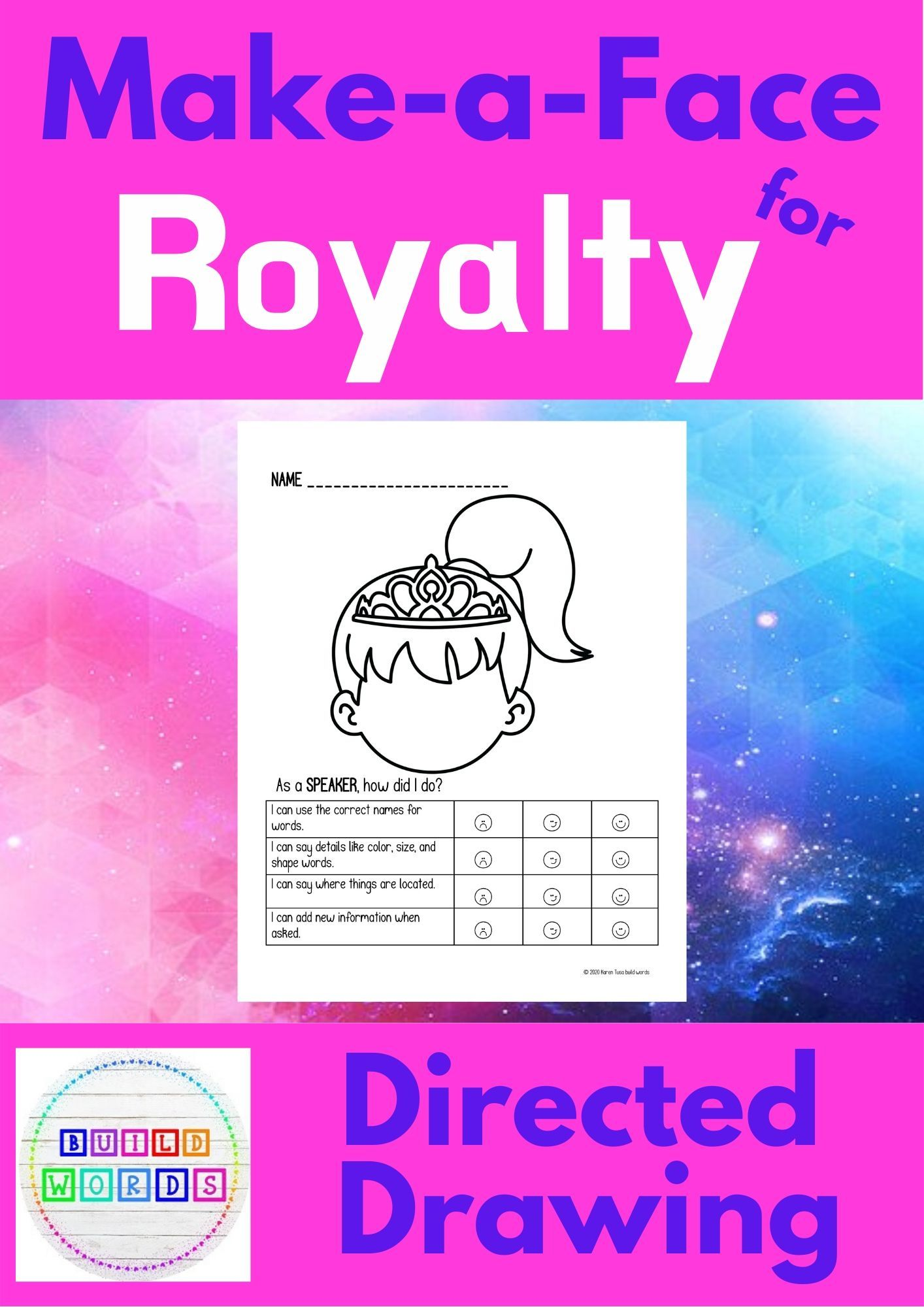 Follow And Give Directions Make A Face For Royalty In