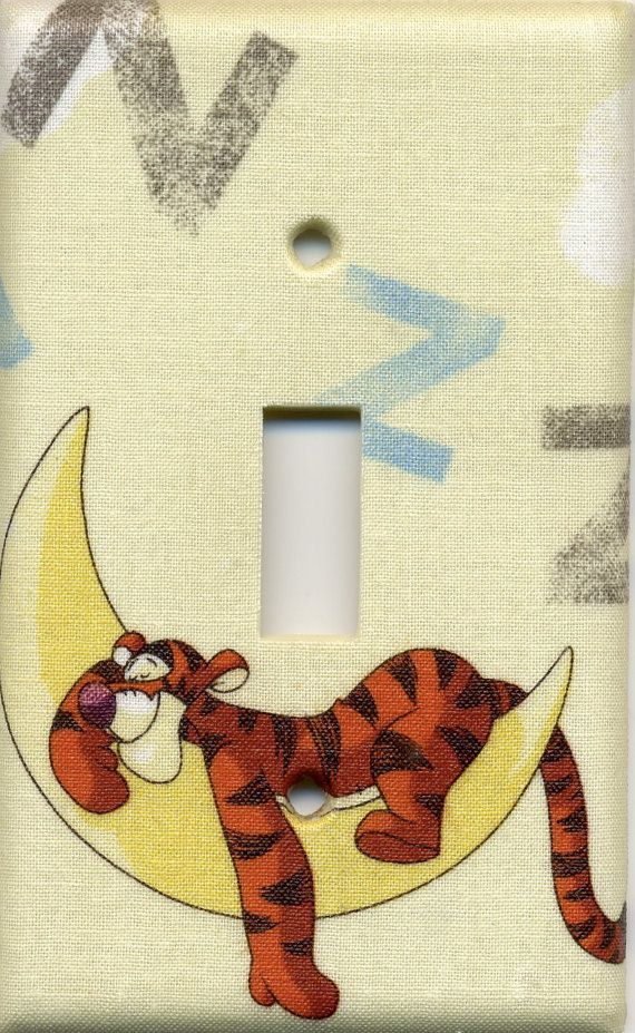 Disney Tigger Single Light Switch Plate by staceyshandcrafts, $6.99