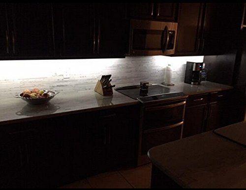 Bonlux 4 Pack 0.3m/strip Dimmable Under Cabinet LED Strip Lights Kit,