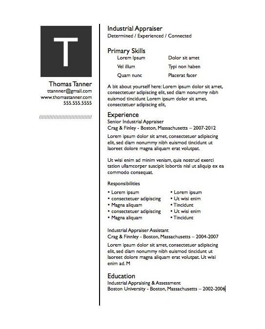 Drop Cap Pages Resume Template  Drop Cap Resume Template Free