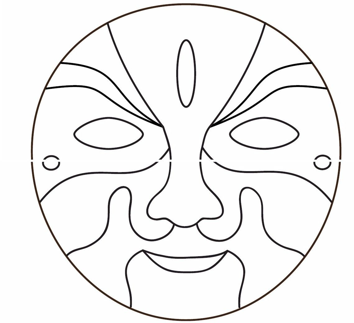 Awesome Free Printable African Masks | You Might Also Be Interested In And Free Mask Templates