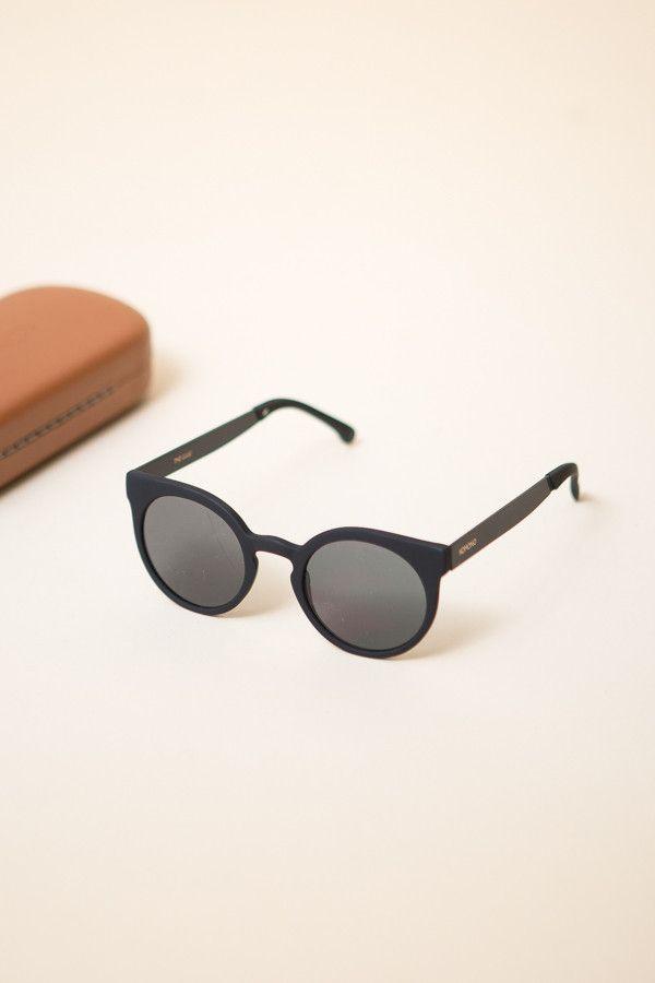 a3c575e50499 Komono Lulu Sunglasses   Black Metal