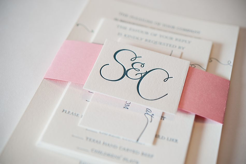 REAL WEDDING: Susan and Chad | Letterpress Wedding Invitations with ...