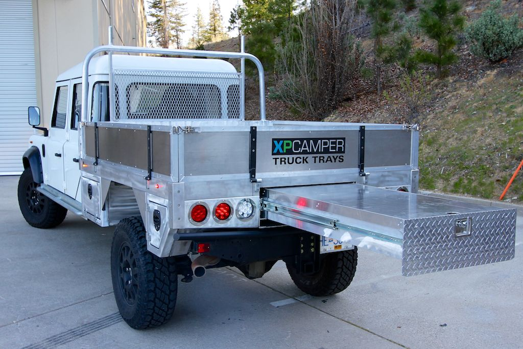 XPCamper's unique truck tray system offers maximum utility