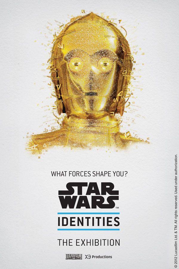 """Cartazes promovendo a exposição """"Star Wars Identities"""""""
